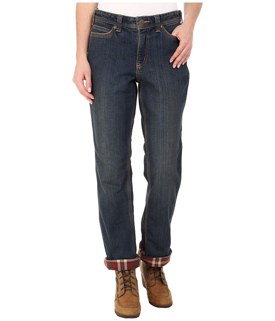 Carhartt - Relaxed Fit Denim Flannel-Lined Jeans (Authentic Indigo) Women's Jeans
