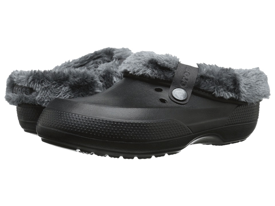 Crocs - Blitzen II Luxe Clog (Black/Charcoal) Clog Shoes