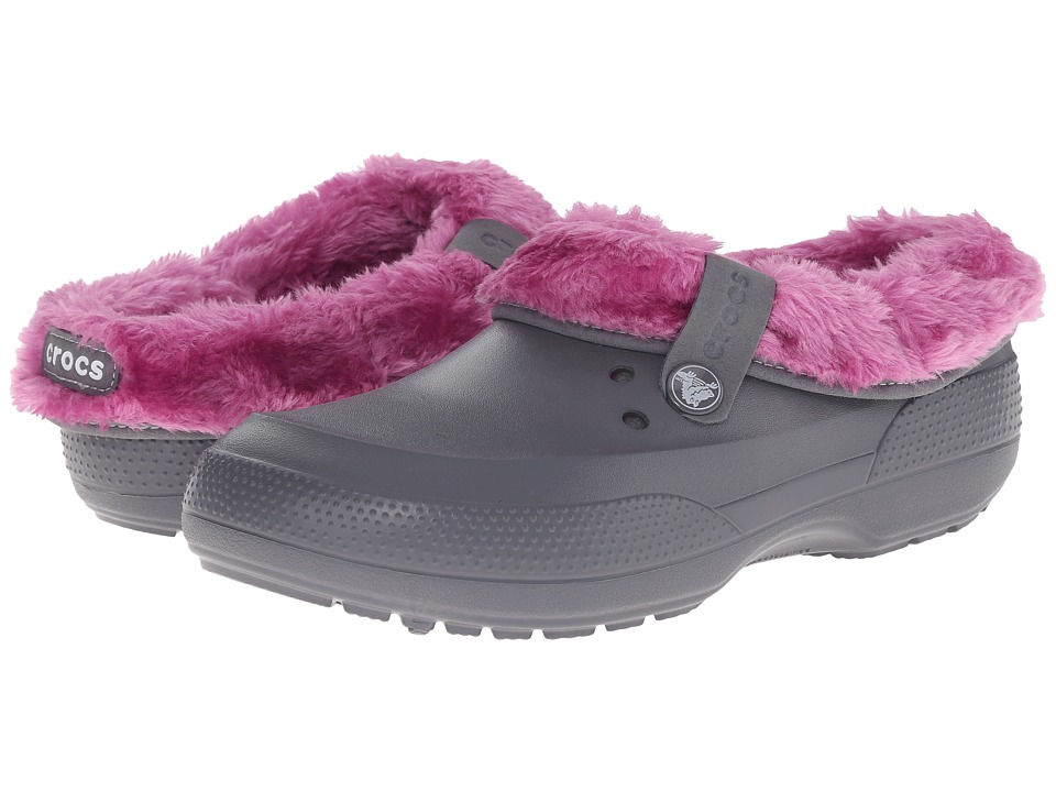Crocs - Blitzen II Luxe Clog (Charcoal/Wild Orchard) Clog Shoes
