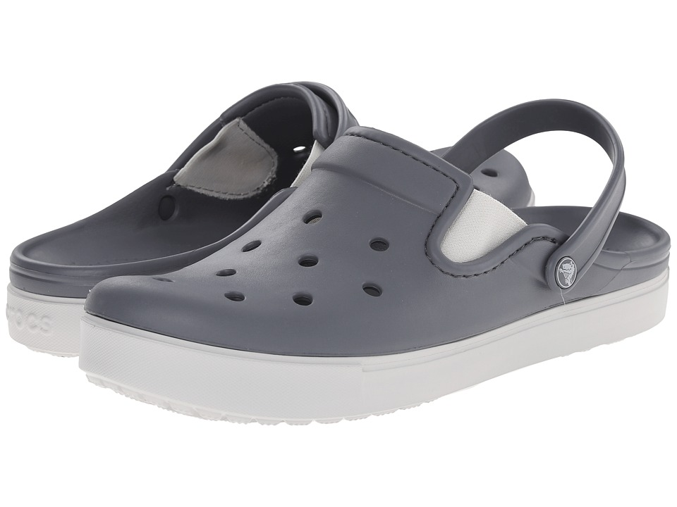 Crocs - CitiLane Clog (Charcoal/Pearl White) Clog Shoes