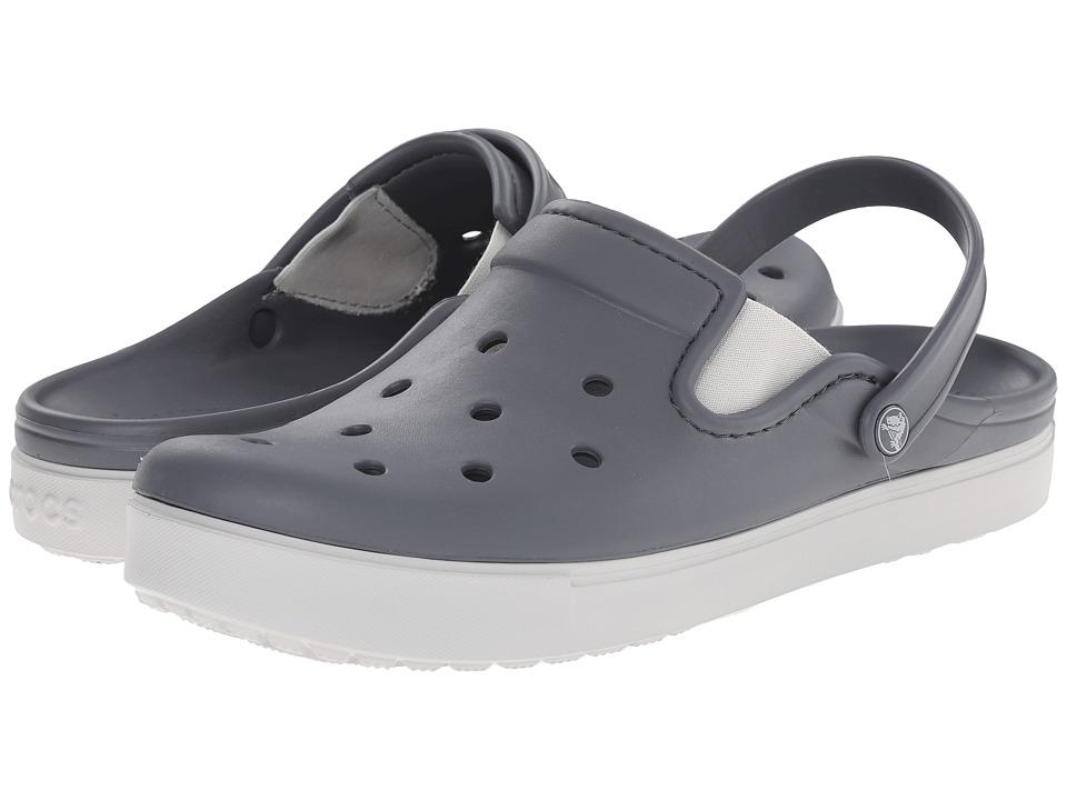 Crocs CitiLane Clog (Charcoal/Pearl White) Clog Shoes