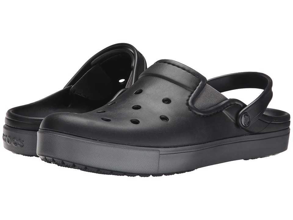 Crocs - CitiLane Clog (Black/Graphite) Clog Shoes