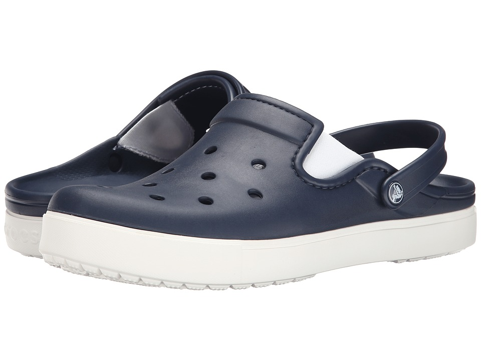 Crocs - CitiLane Clog (Navy/White) Clog Shoes