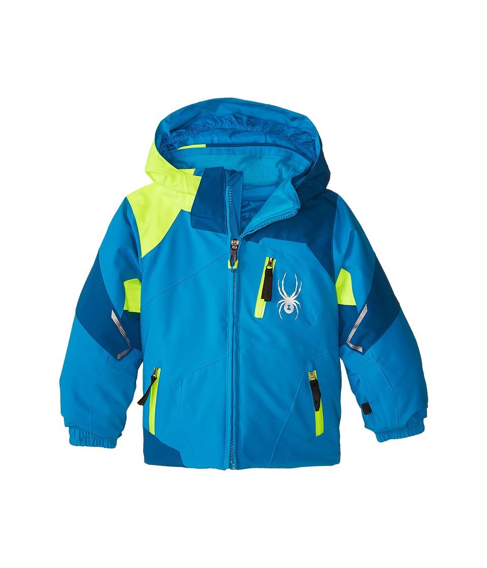 Spyder Kids - Mini Leader Jacket (Toddler/Little Kids/Big Kids) (Electric Blue/Concept Blue/Bryte Yellow) Boy's Coat