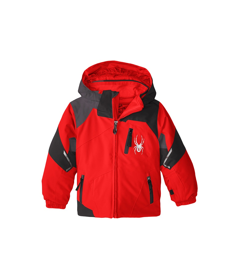 Spyder Kids - Mini Leader Jacket (Toddler/Little Kids/Big Kids) (Volcano/Black/Polar) Boy's Coat