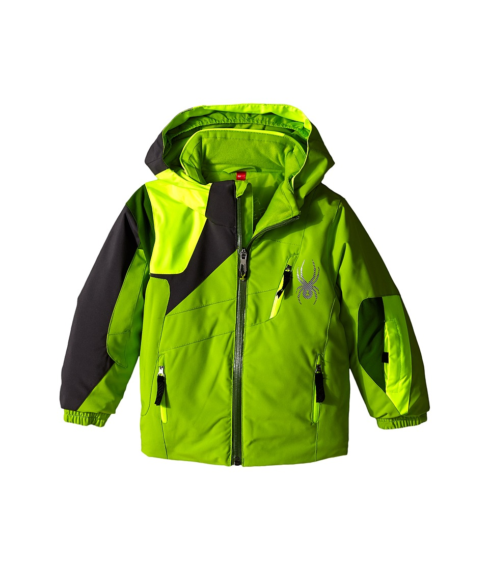 Spyder Kids - Mini Avenger Jacket (Toddler/Little Kids/Big Kids) (Theory Green/Bryte Yellow/Polar) Boy's Coat