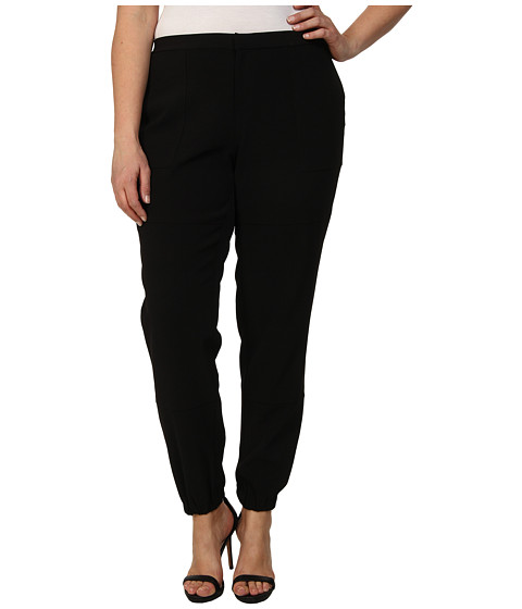 Mynt 1792 - Plus Size Pork Chop Pocket Slouch Pants (Black) Women's Casual Pants