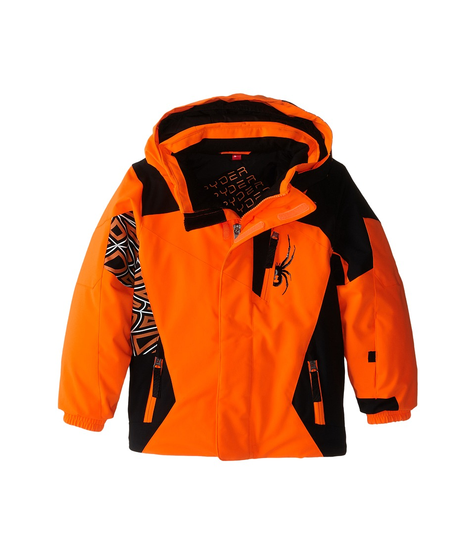 Spyder Kids - Mini Challenger Jacket (Toddler/Little Kids/Big Kids) (Bryte Orange/Bryte Orange/Black) Boy's Coat