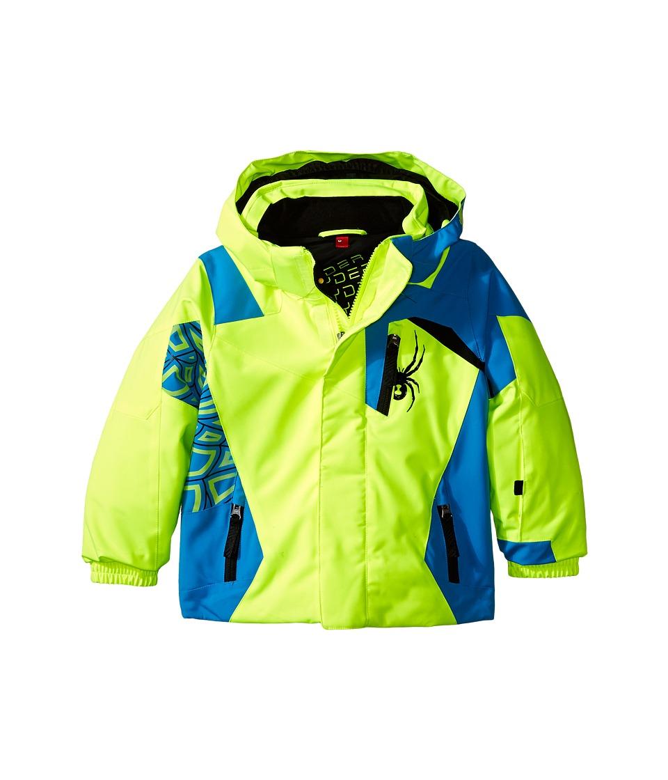 Spyder Kids - Mini Challenger Jacket (Toddler/Little Kids/Big Kids) (Bryte Yellow/Electric Blue/Black) Boy's Coat