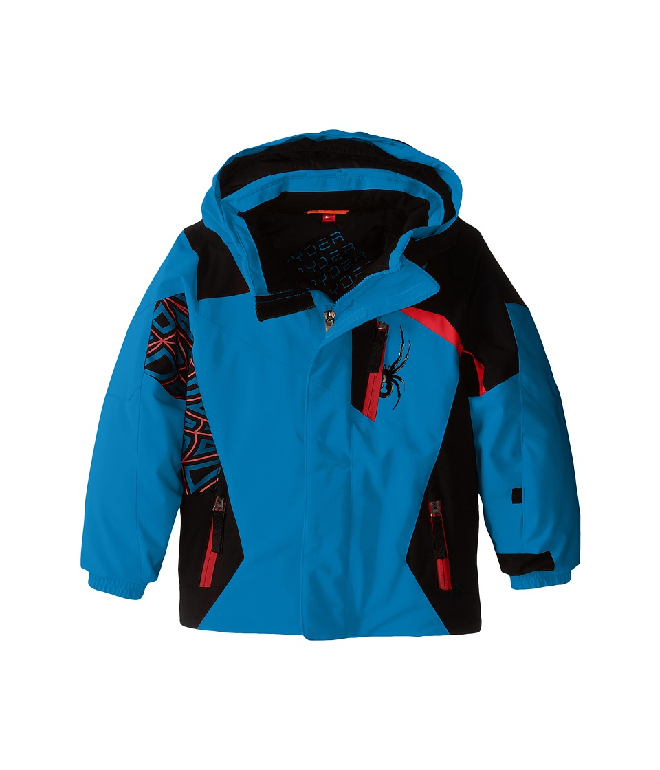 Spyder Kids - Mini Challenger Jacket (Toddler/Little Kids/Big Kids) (Electric Blue/Black/Volcano) Boy's Coat