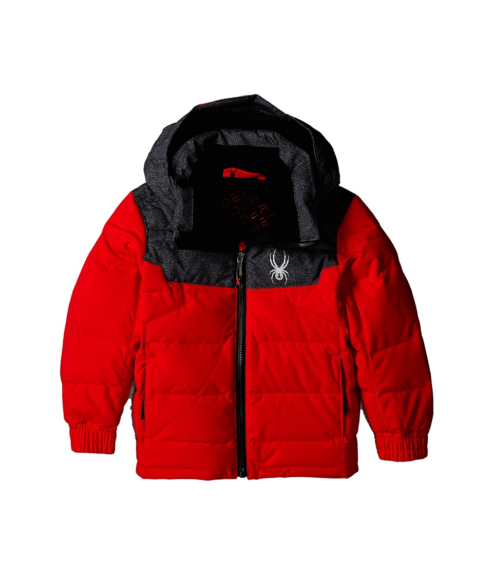 Spyder Kids - Mini Clutch Down Jacket (Toddler/Little Kids/Big Kids) (Volcano/Polar Wool Print) Boy's Coat