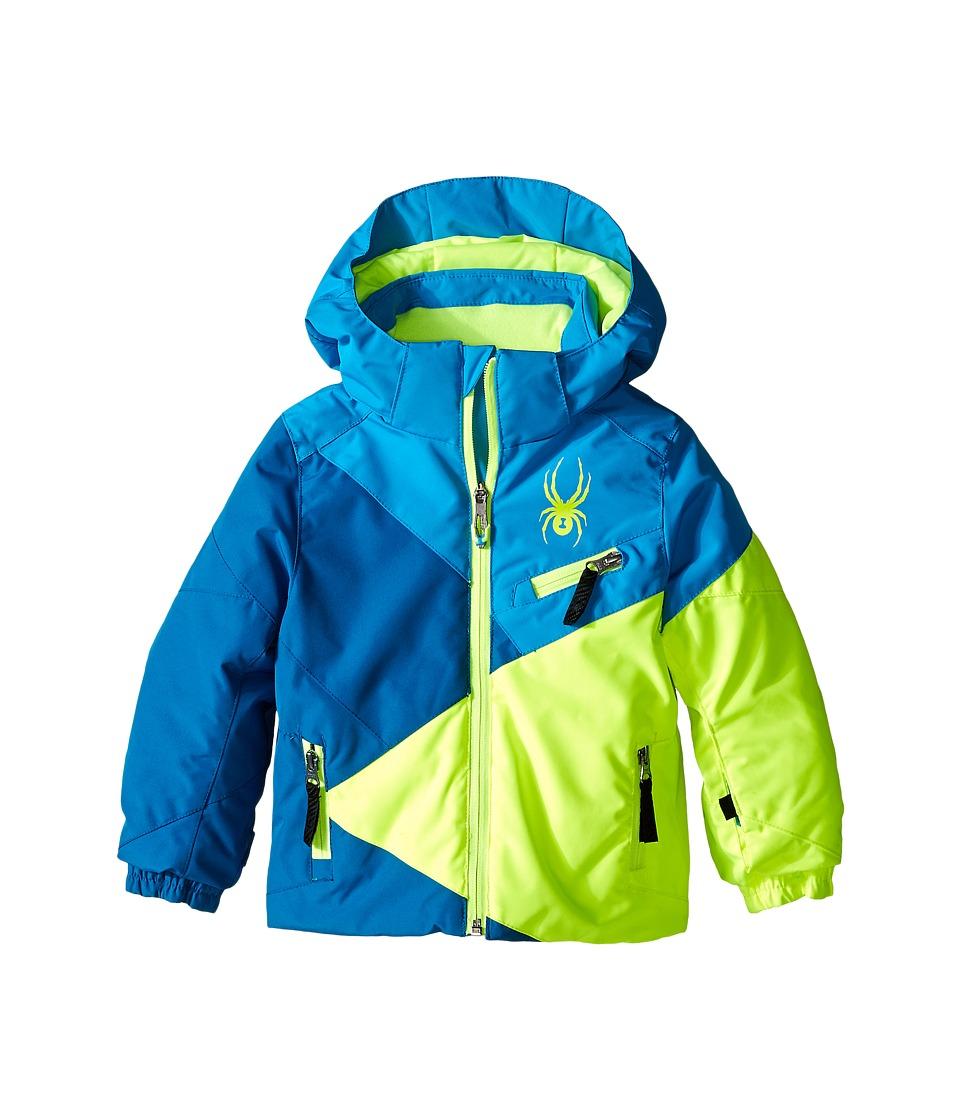 Spyder Kids - Mini Ambush Jacket (Toddler/Little Kids/Big Kids) (Concept Blue/Electric Blue/Bryte Yellow) Boy's Coat