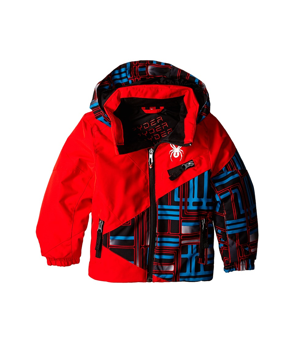 Spyder Kids - Mini Ambush Jacket (Toddler/Little Kids/Big Kids) (Volcano/Volcano/Volcano Routed Print) Boy's Coat