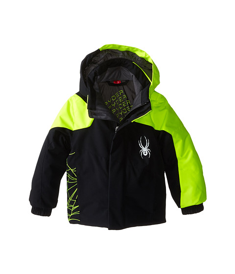 Spyder Kids - Mini Guard Jacket (Toddler/Little Kids/Big Kids) (Black/Bryte Yellow) Boy's Coat