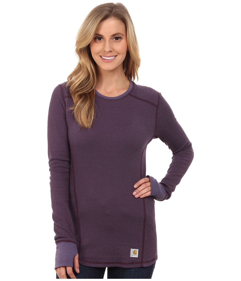 Carhartt - Base Force Cold Weather Crew Neck Top (Plum) Women's Long Sleeve Pullover