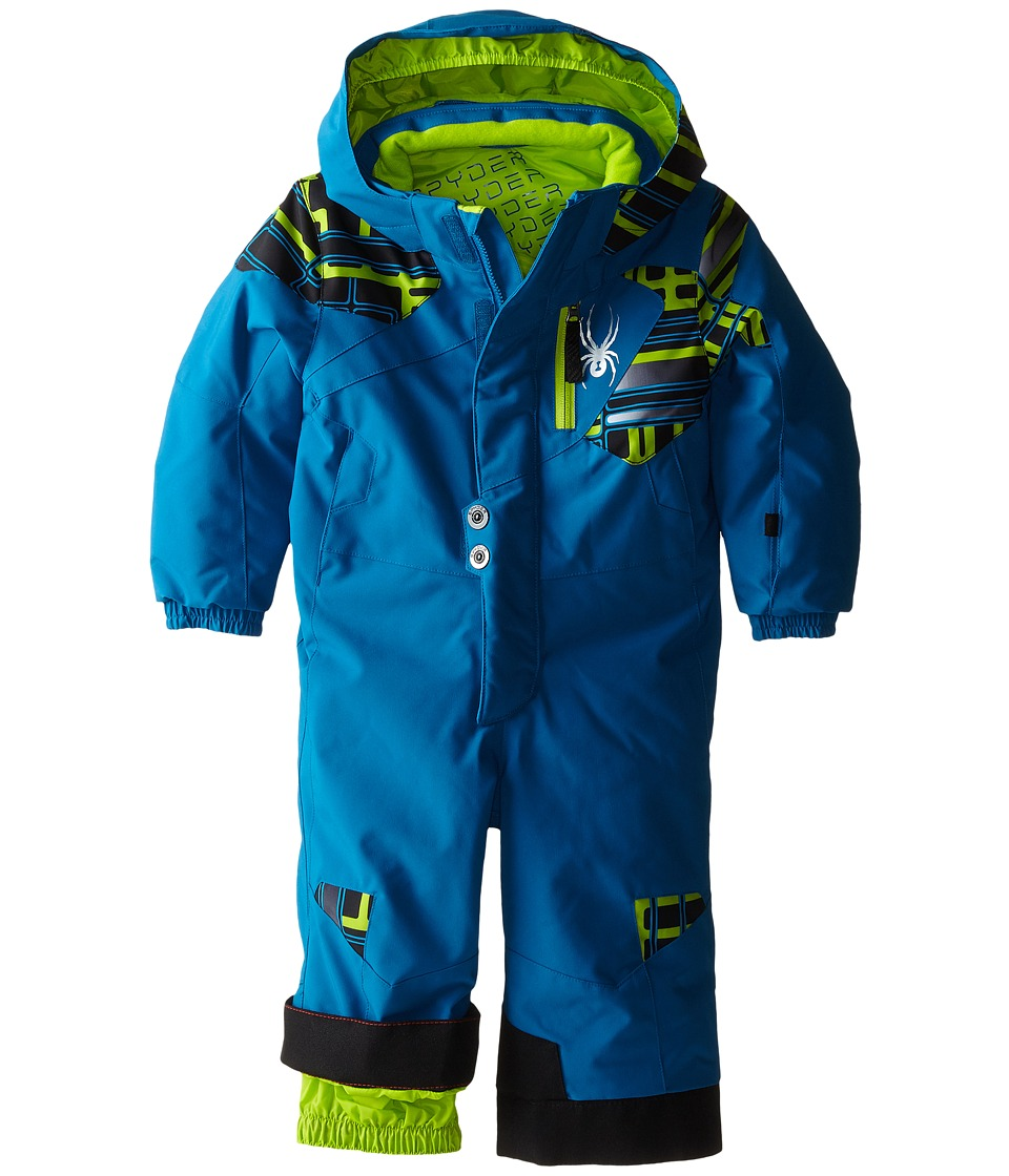 Spyder Kids - Mini Journey Suit (Toddler/Little Kids/Big Kids) (Concept Blue/Theory Green Routed Print) Boy's Suits Sets