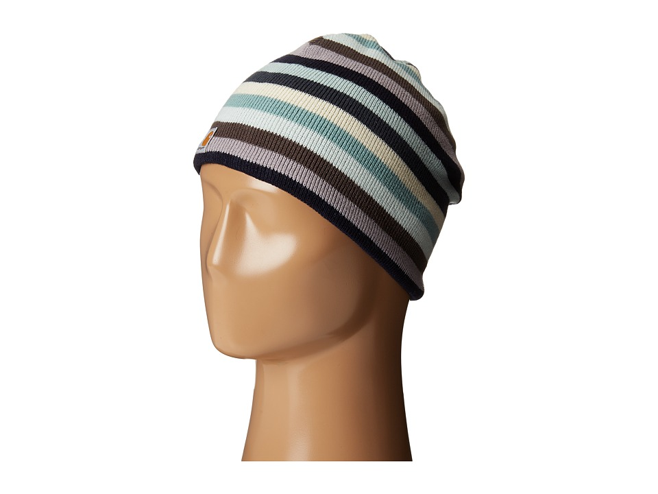 Carhartt - Striped Knit Hat (Deep Blue) Beanies