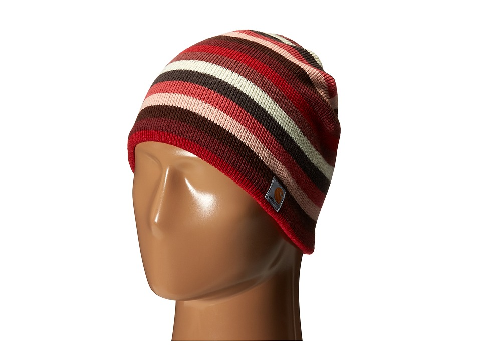 Carhartt - Striped Knit Hat (Crab Apple) Beanies