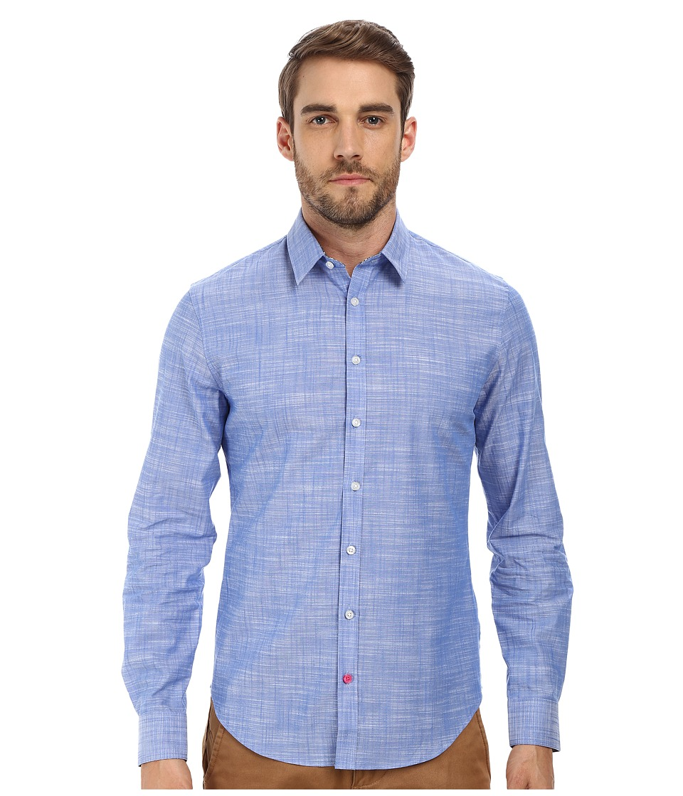 Moods of Norway - Anders Vik Long Collar Shirt 151069 (Mid Blue) Men's Long Sleeve Button Up