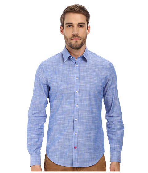 Moods of Norway - Anders Vik Long Collar Shirt 151069 (Mid Blue) Men
