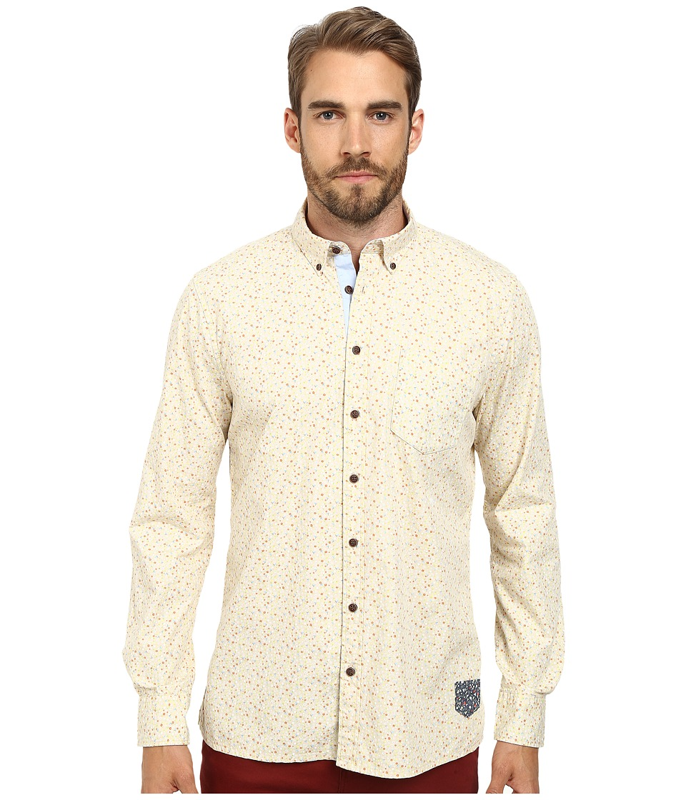 Moods of Norway - Anders Vik Long Collar Shirt 151067 (Off White) Men's Long Sleeve Button Up