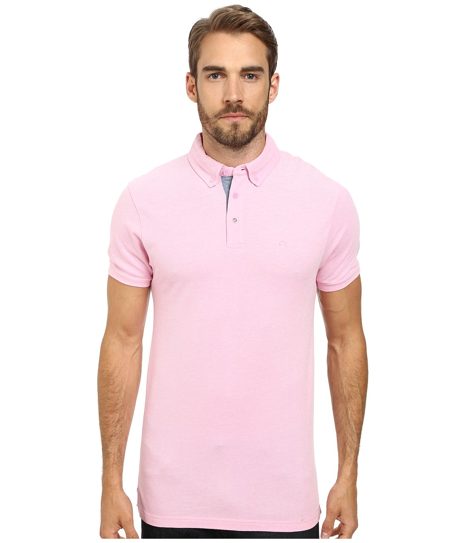 Moods of Norway - Per Are Piquet Short Sleeve Shirt 151268 (Medium Pink) Men's Short Sleeve Pullover