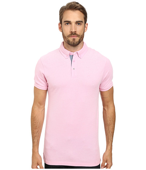 Moods of Norway - Per Are Piquet Short Sleeve Shirt 151268 (Medium Pink) Men