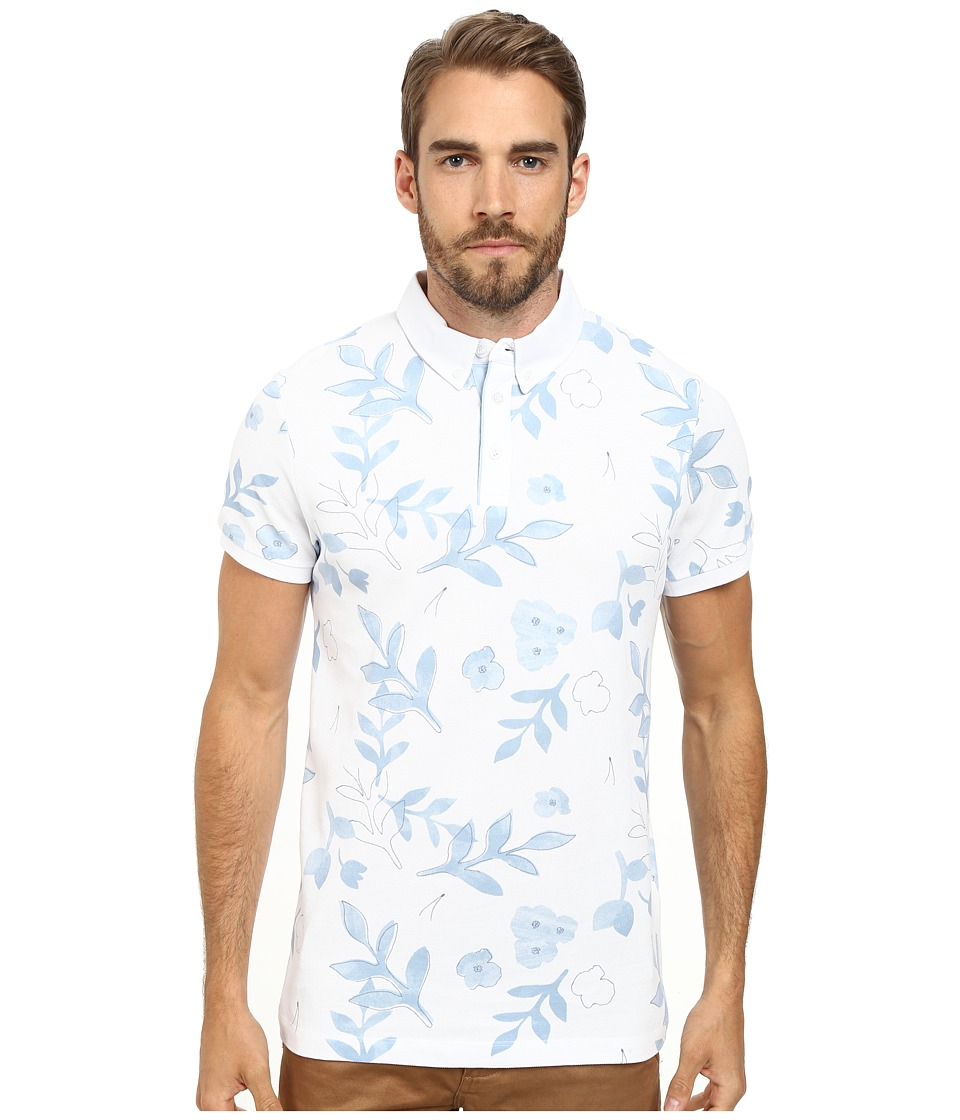 Moods of Norway - Per Are Piquet Short Sleeve Shirt 151269 (White) Men's Short Sleeve Button Up