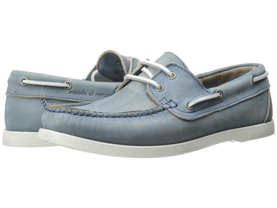 Moods of Norway - Aslak Moccasins 151346 (Electric Blue) Men's Moccasin Shoes