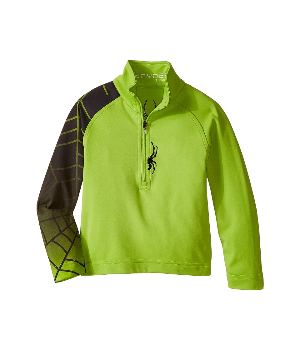 Spyder Kids - Mini Linear Web Dry W.E.B. T-Neck (Toddler/Little Kids/Big Kids)2 (Theory Green/Black) Boy's Coat