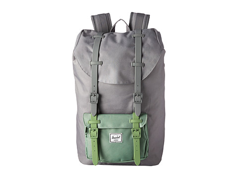 Herschel Supply Co. - Little America Mid-Volume (Grey/Foliage/Grey & Foliage Rubber) Backpack Bags
