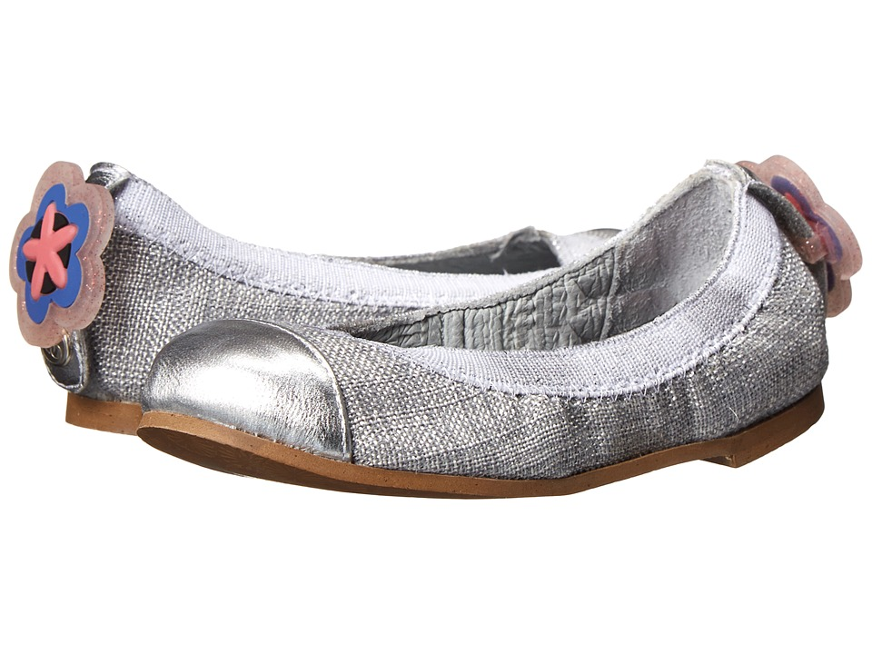 Bumbums & Baubles - Anna (Toddler/Little Kid/Big Kid) (Silver) Girls Shoes