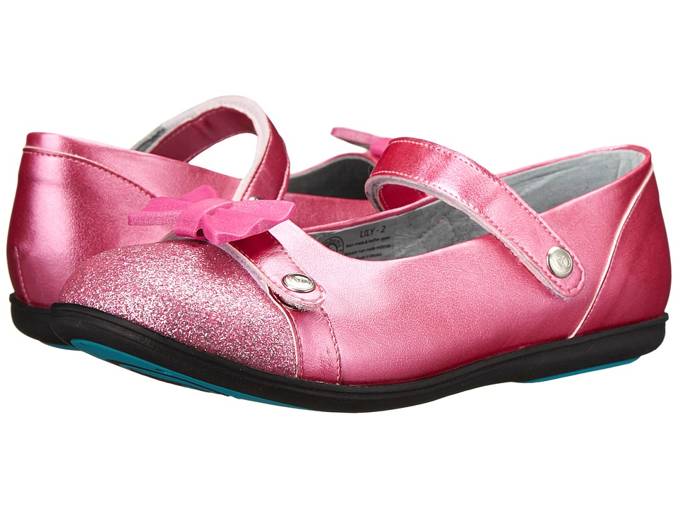 Bumbums & Baubles - Lily (Toddler/Little Kid/Big Kid) (Pink Sparkle) Girls Shoes