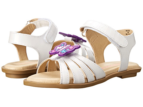 Bumbums & Baubles - Sadie (Toddler/Little Kid) (White) Girls Shoes