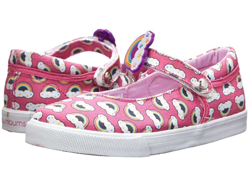 Bumbums & Baubles - Olivia (Toddler/Little Kid/Big Kid) (Pink Rainbows) Girl's Shoes