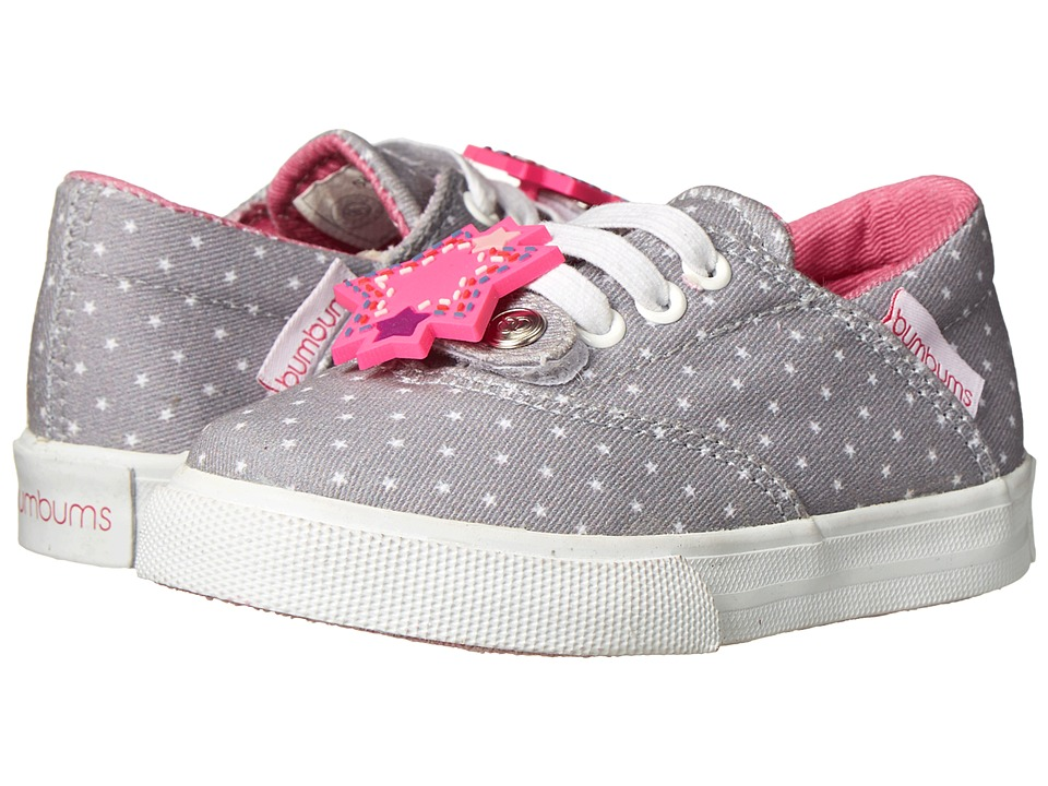 Bumbums & Baubles - Spencer (Toddler/Little Kid/Big Kid) (Grey Stars) Girl's Shoes