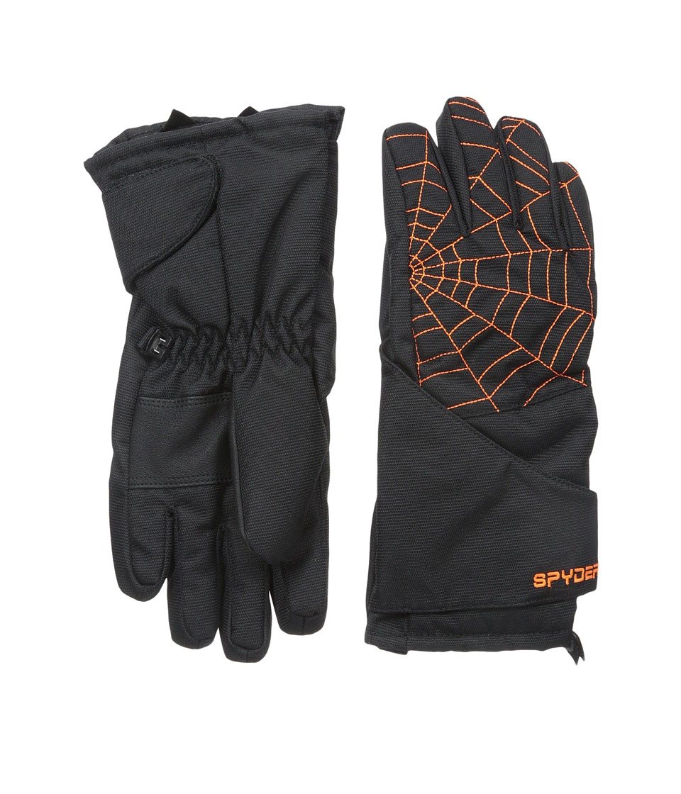 Spyder Kids - Mini Overweb Ski Glove (Toddler/Little Kids/Big Kids) (Black/Bryte Orange) Ski Gloves