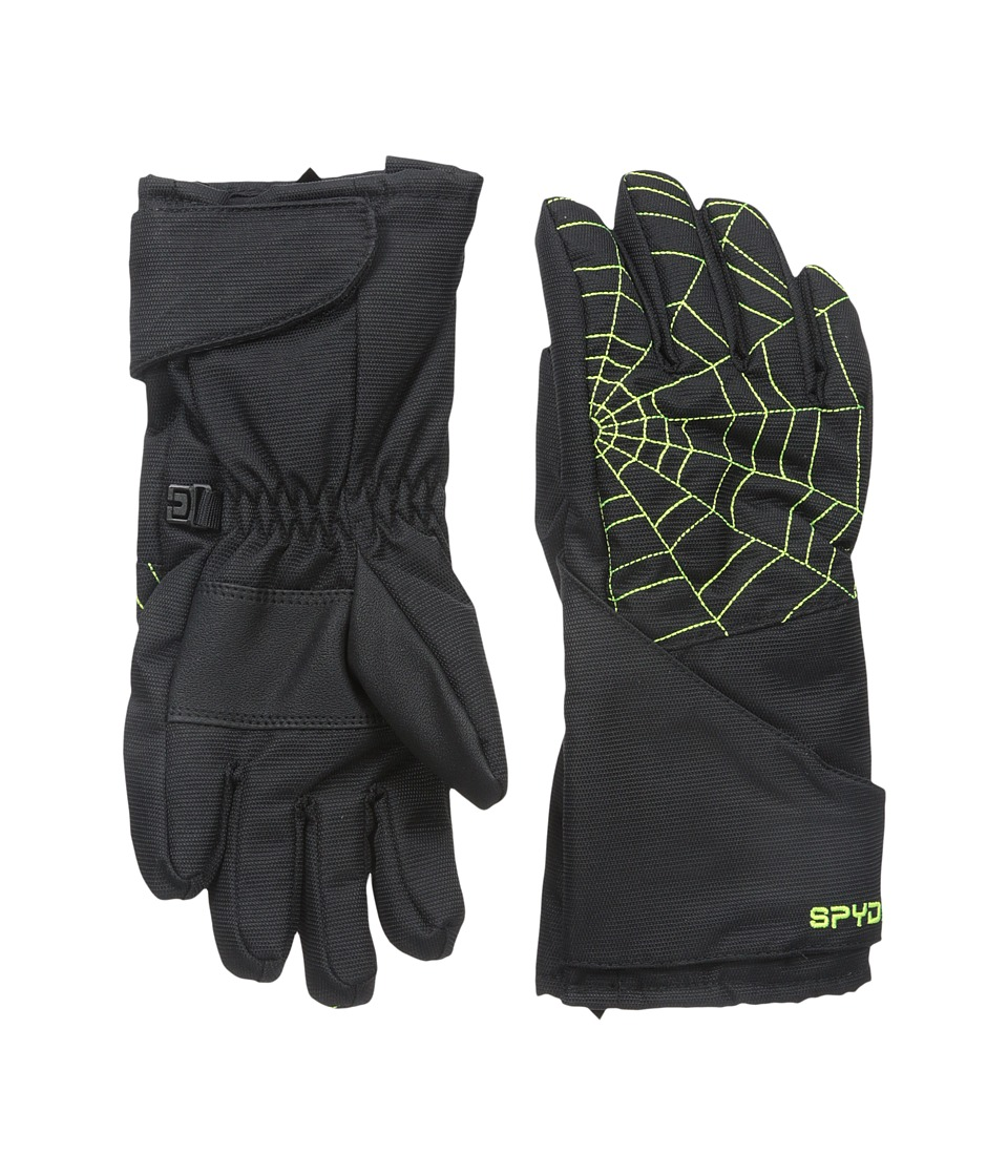 Spyder Kids - Mini Overweb Ski Glove (Toddler/Little Kids/Big Kids) (Black/Bryte Yellow) Ski Gloves