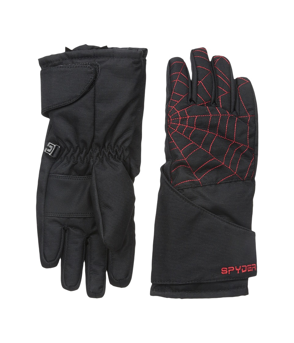 Spyder Kids - Mini Overweb Ski Glove (Toddler/Little Kids/Big Kids) (Black/Volcano) Ski Gloves