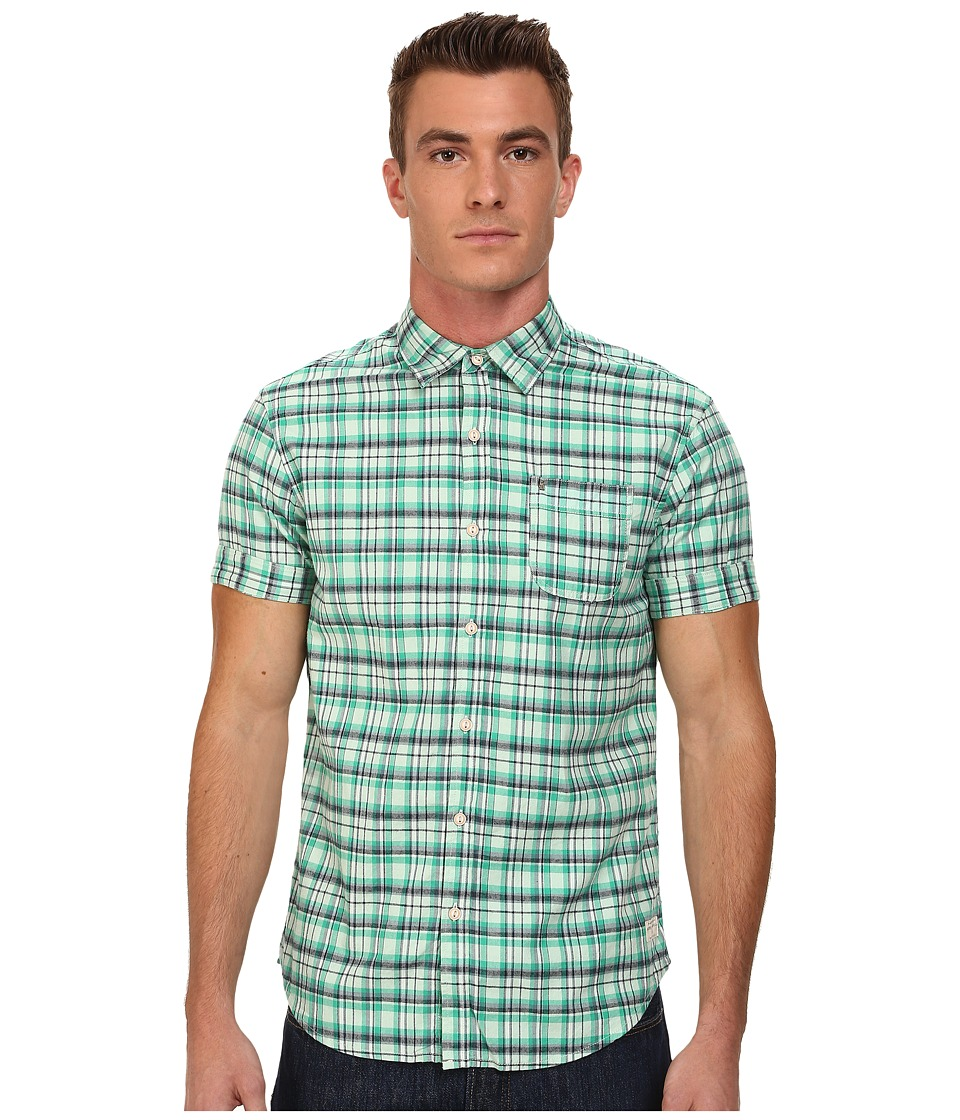 Scotch & Soda - Short Sleeve Check Shirt (Green) Men's Clothing