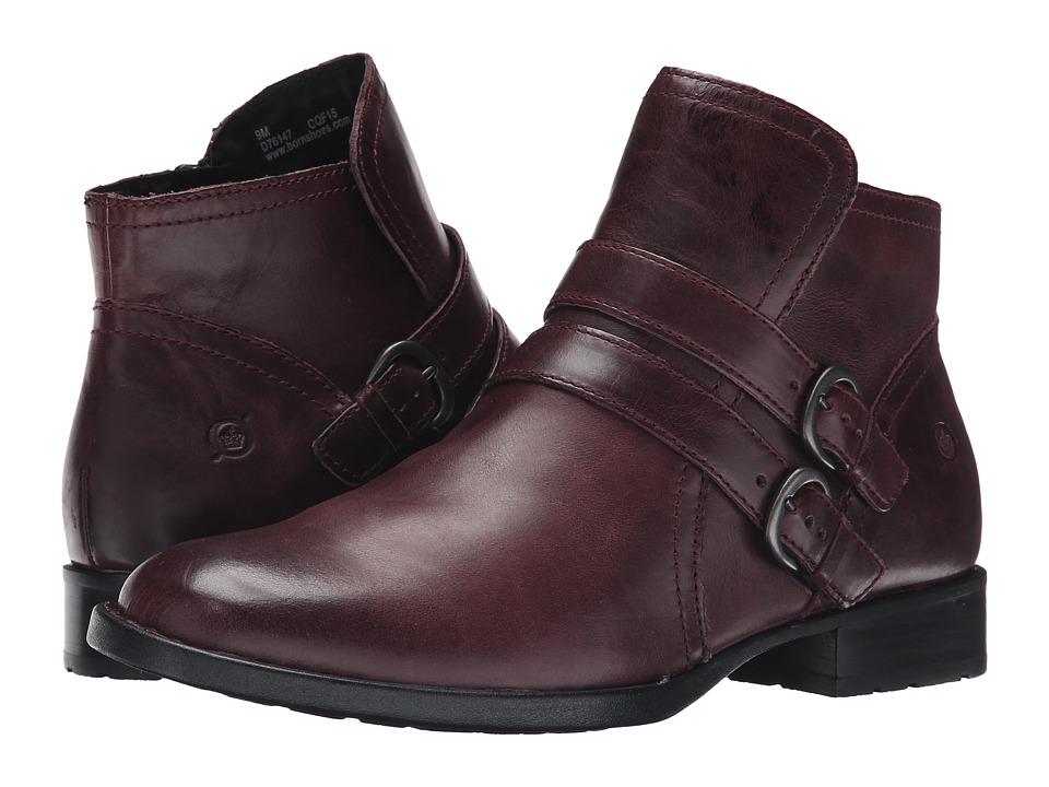 Born - Pirlo (Burgundy Full Grain Leather) Women