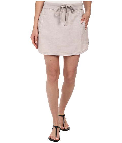 Dylan by True Grit - Rugger Drawstring Mini Skirt (Ice Grey) Women