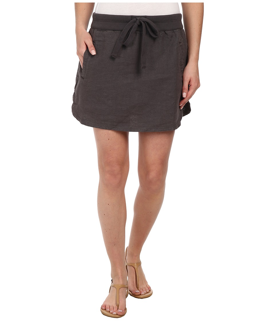 Dylan by True Grit - Rugger Drawstring Mini Skirt (Charcoal) Women