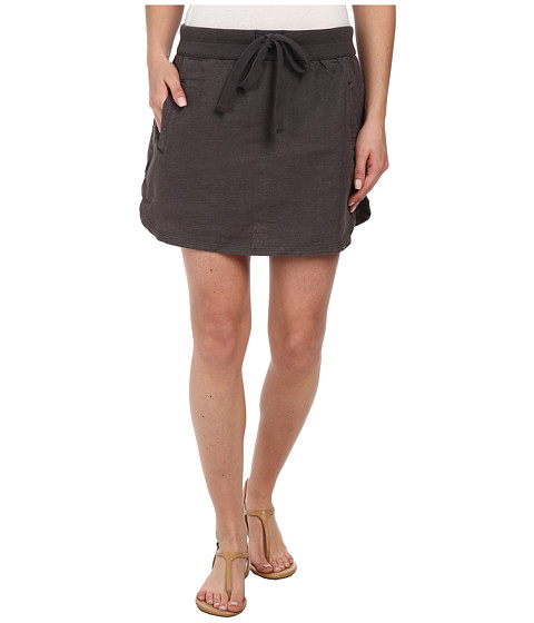 Dylan by True Grit - Rugger Drawstring Mini Skirt (Charcoal) Women's Skirt
