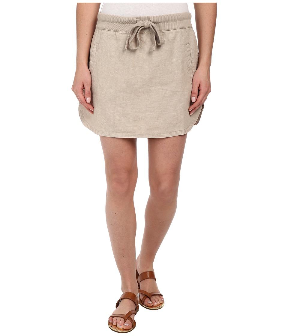 Dylan by True Grit - Rugger Drawstring Mini Skirt (Vintage Khaki) Women's Skirt