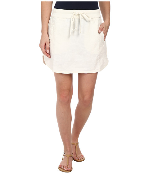 Dylan by True Grit - Rugger Drawstring Mini Skirt (Perfect White) Women