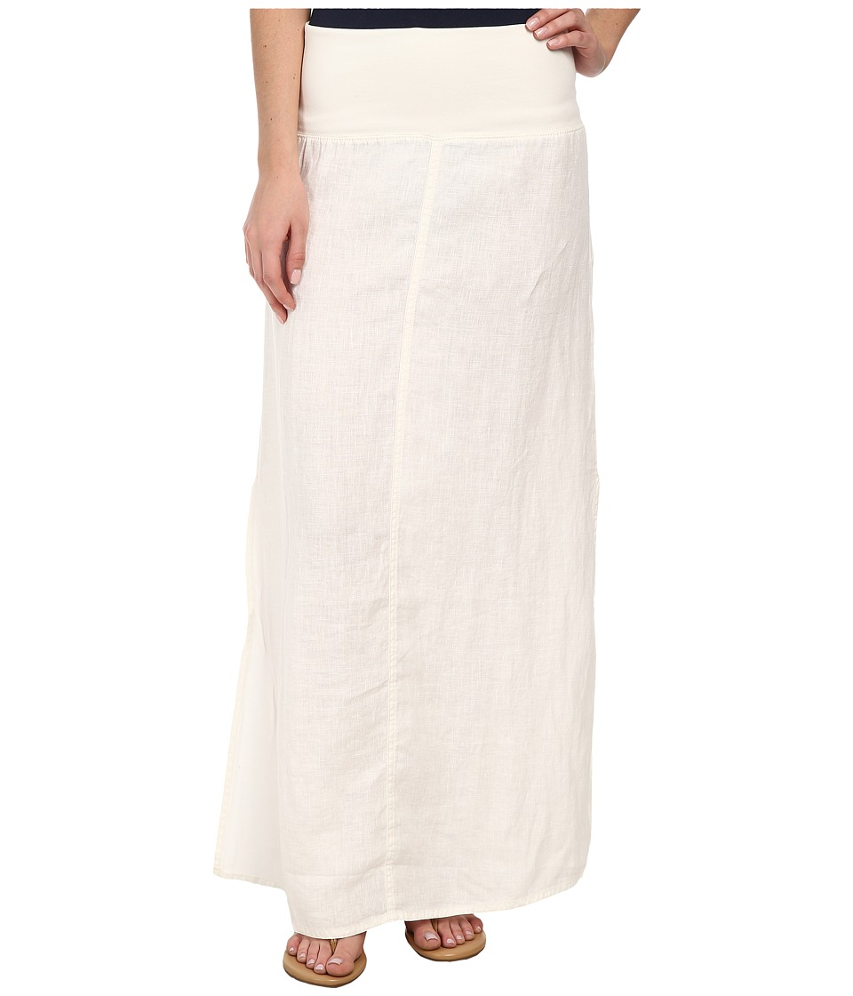 Dylan by True Grit - Slit Maxi Skirt (Perfect White) Women