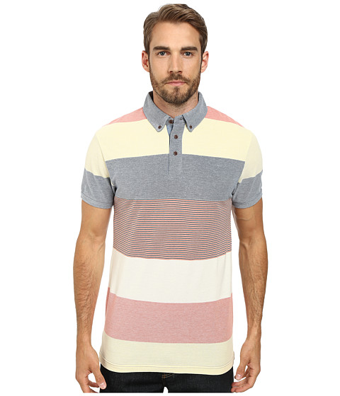 Moods of Norway - Per Are Piquet Short Sleeve Shirt 151387 (Light/Pastel Yellow) Men's Short Sleeve Pullover