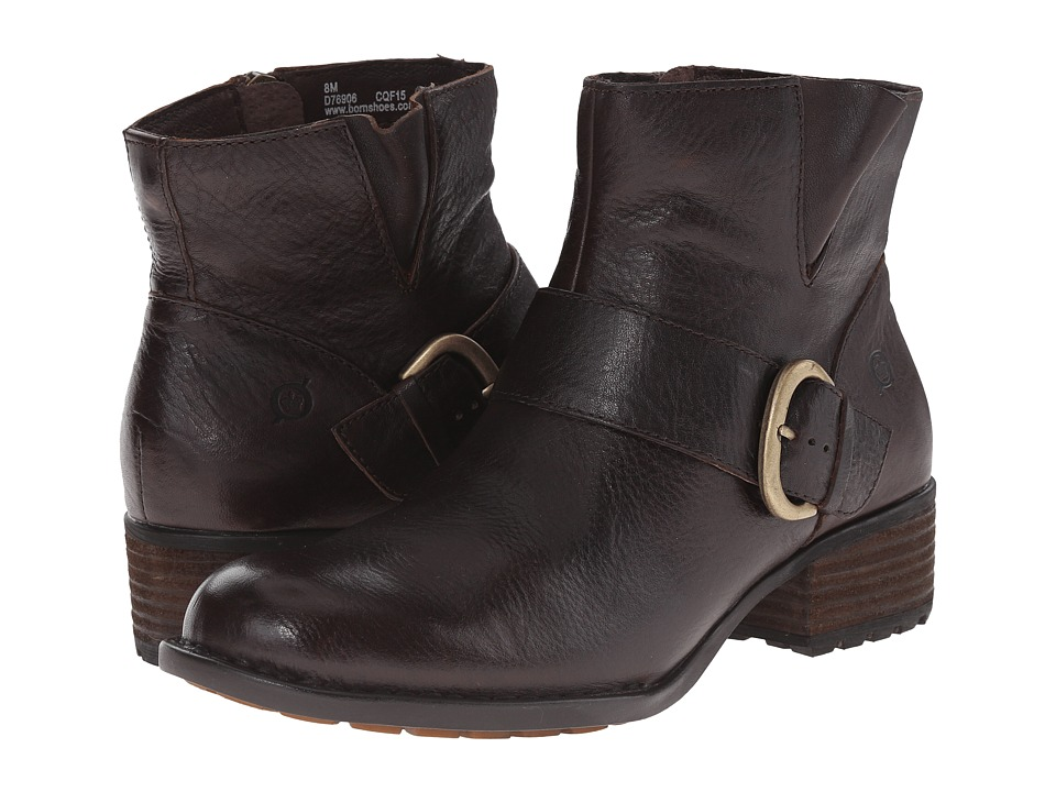 Born - Liona (Mahogany/Brown Full Grain Leather) Women's Zip Boots