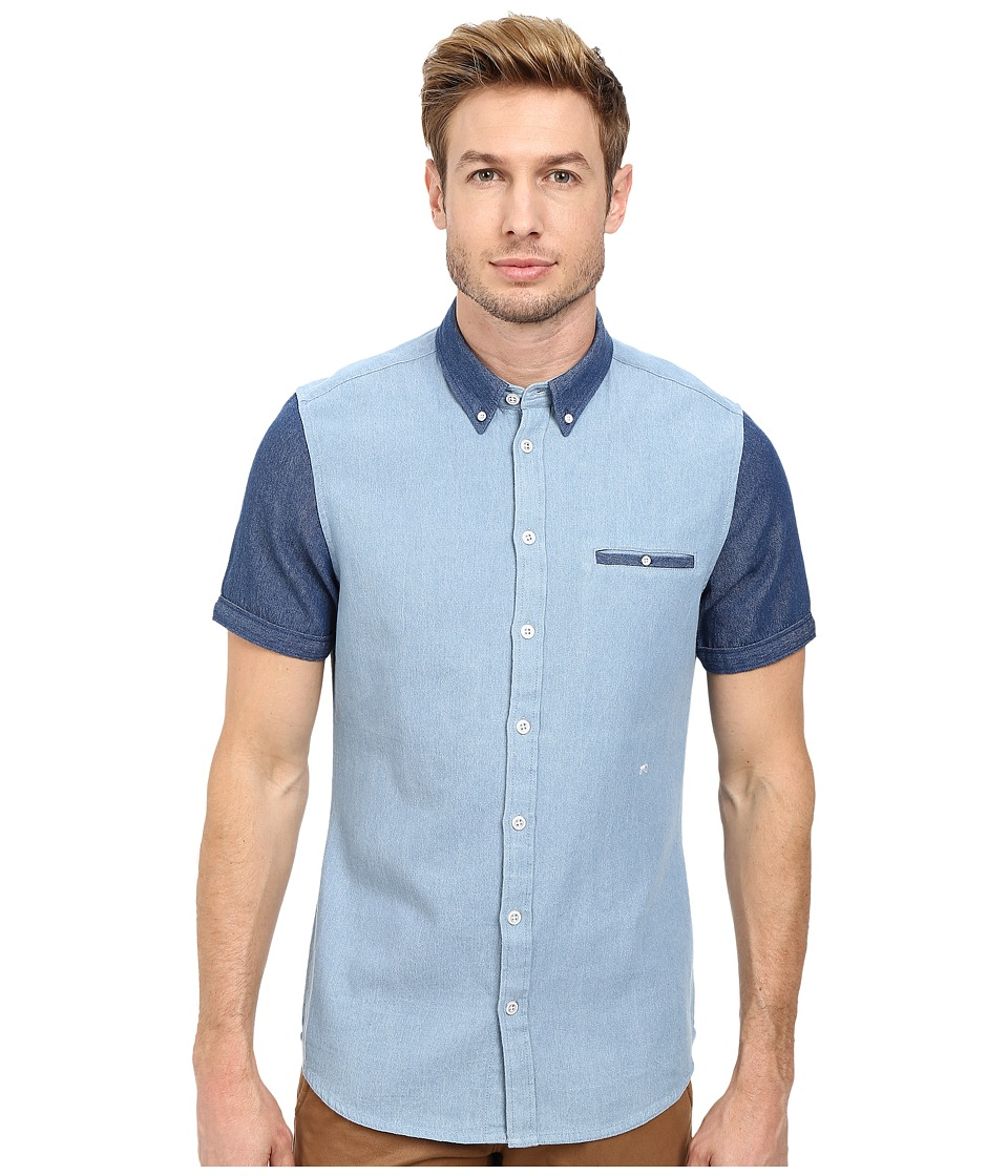 Moods of Norway - Per Vick Short Sleeve Shirt 151063 (Cerulean) Men
